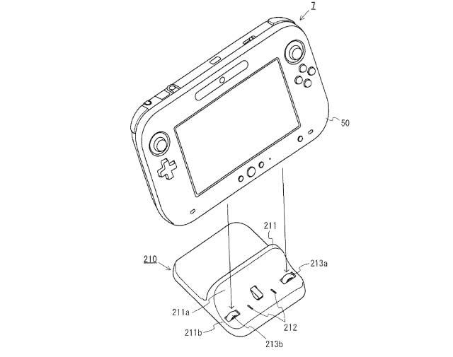 Wii U controller dock