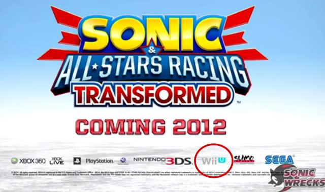 Sonic All Stars Racing Transformed Wii U