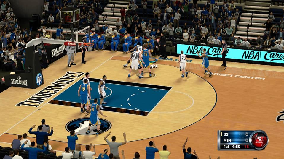 NBA 2K13 Wii U Minnesota Timberwolves gameplay - NintendoToday