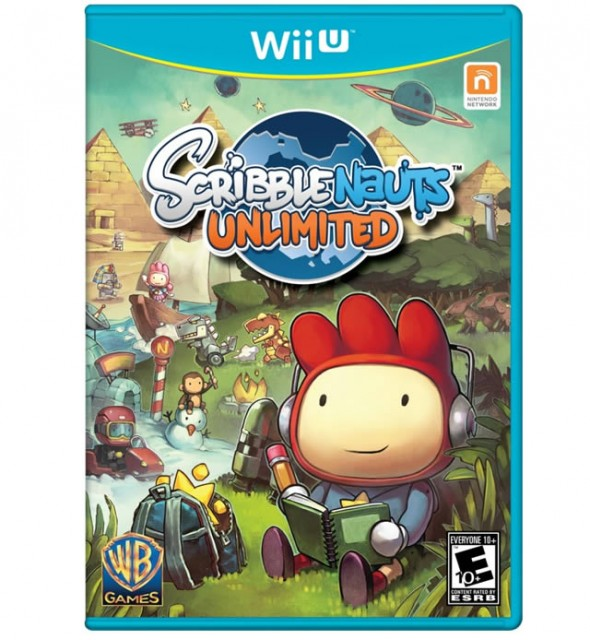 Scribblenauts unlimited Wii U box art
