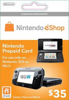 Wii U eShop card