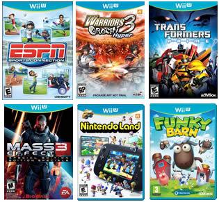 Wii U launch games