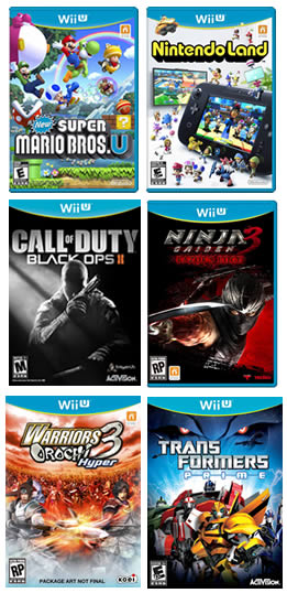 Wii U launch games