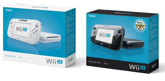 Wii U packaging boxes