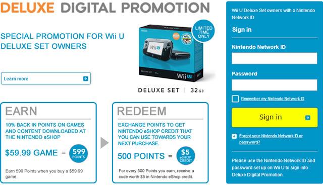 Wii U Deluxe promo