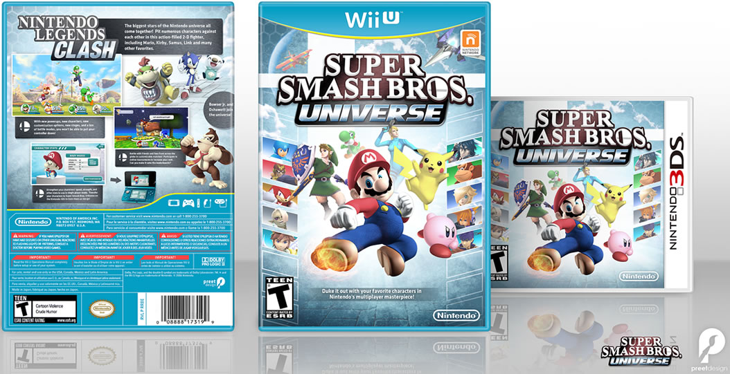 New Wii U Games 2013 : Fan made super smash bros u box art looks amazing