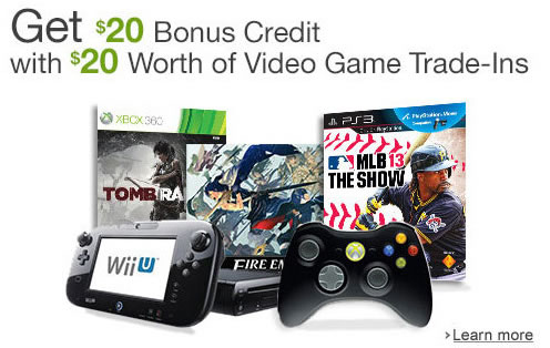 amazon offering trade in credit on used wii u games nintendotoday. Black Bedroom Furniture Sets. Home Design Ideas