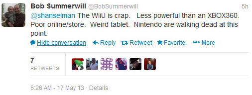 Wii U tweets