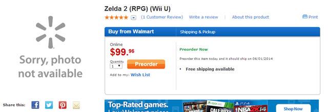 Walmart Zelda 2