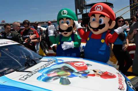Mario Kart 8 featured NASCAR racer