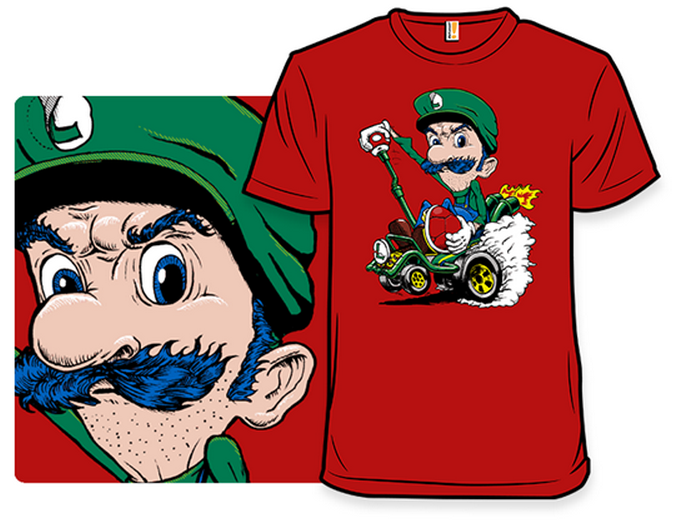 Luigi Death Stare T Shirt On Sale From Woot Today Only