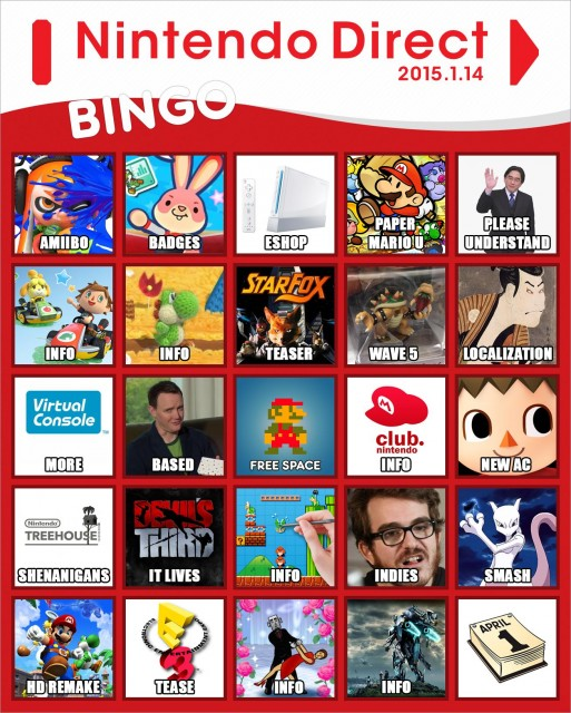 Let's play bingo with today's Nintendo Direct! - NintendoToday