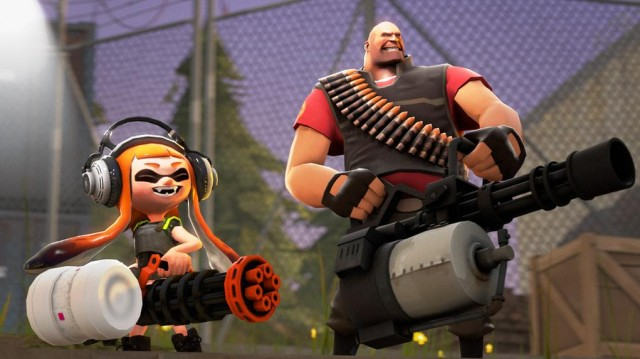splatoon and team fortress 2 crossover is the best thing ever