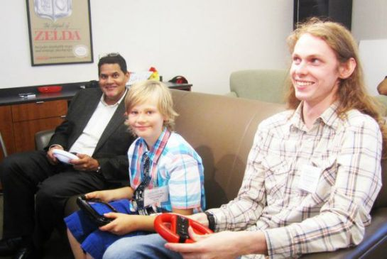 Nintendo's Reggie Films-Aime makes sick boy's dream come true