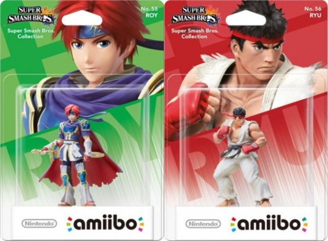 Roy and Ryu Amiibo packaging revealed