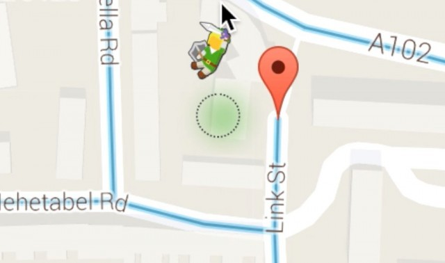 Google maps features a link easter egg today nintendotoday to help celebrate the launch of the legend of zelda twilight princess hd it looks like google has hidden a little easter egg in google maps today gumiabroncs Choice Image
