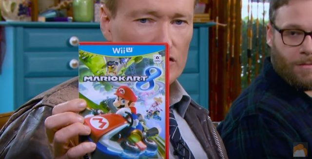 Conan O'Brien plays Mario Kart 8 on Wii U with Seth Rogen and Zac Efron
