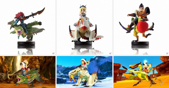 Three new Amiibos revealed, based on Monster Hunter Stories