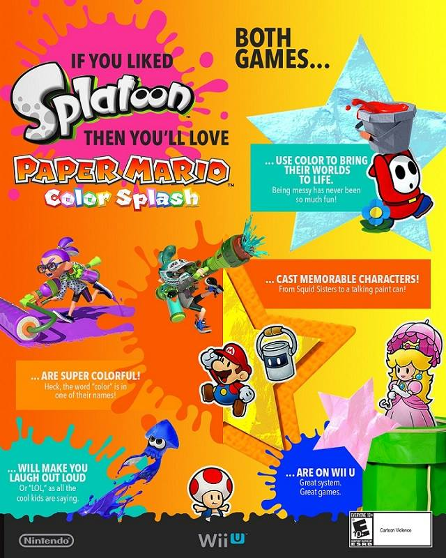 nintendo kicks  paper mario color splash ad campaign   tv spots nintendotoday