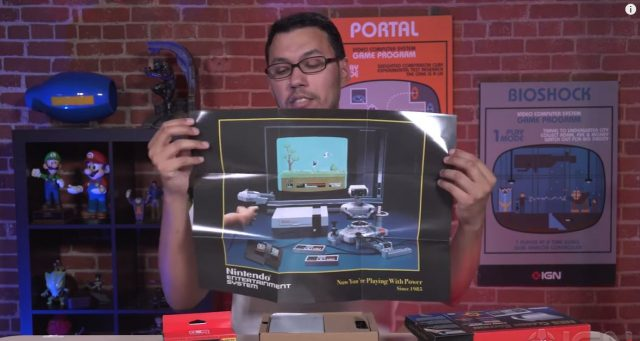 European version of NES Classic doesn't come with the cool poster