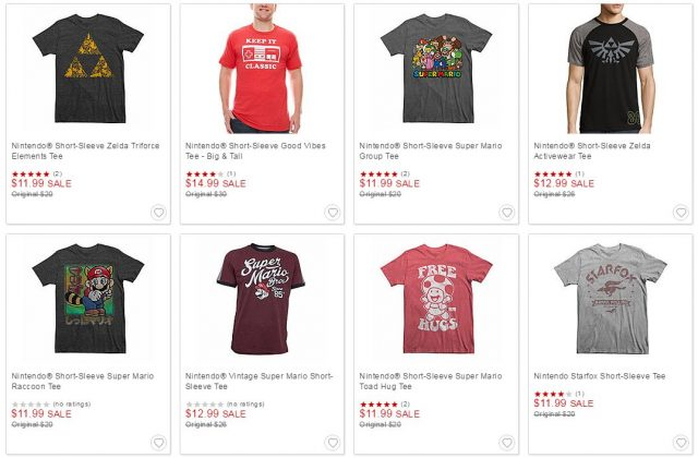 You can now buy Nintendo clothes at JCPenny