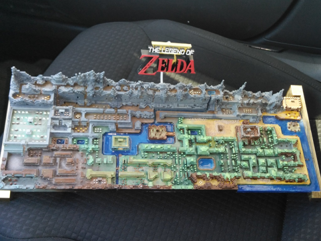 Someone 3D-printed the Legend of Zelda map