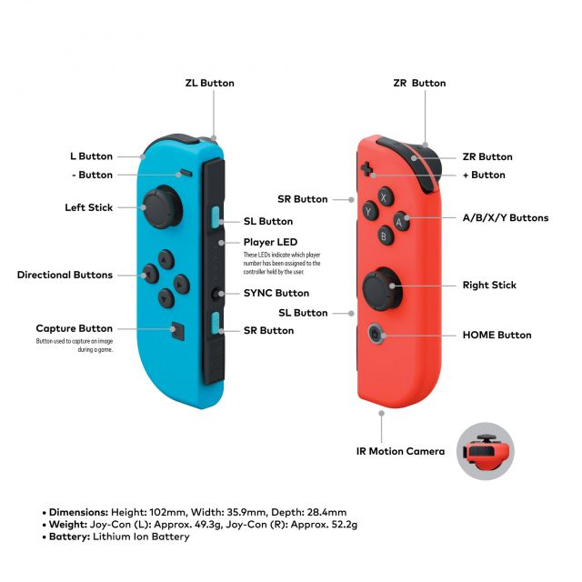 Switch Joy-Con battery life lasts 20 hours
