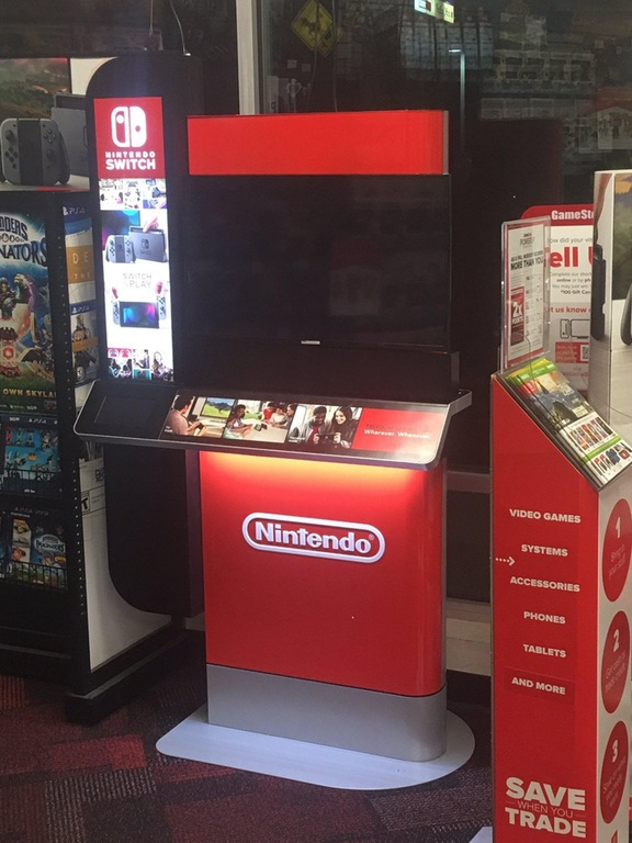 Here's what the Nintendo Switch demo stations at GameStop look like