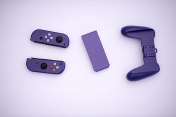 switch-gamecube-joy-con-2-350x234 Check out this custom GameCube Purple Joy-Con