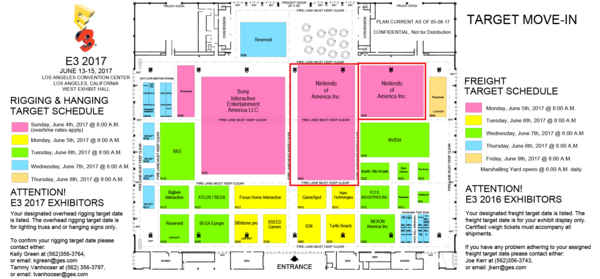 Here S The Floor Plans For E3 2017 Nintendotoday