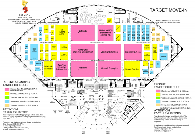 Here's the floor plans for E3 2017 - NintendoToday