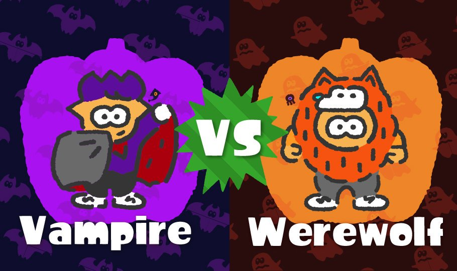 New Splatfest announced, Vampires vs Warevolves