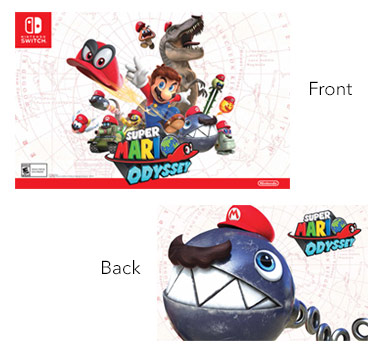 get a free super mario odyssey poster at best buy on launch