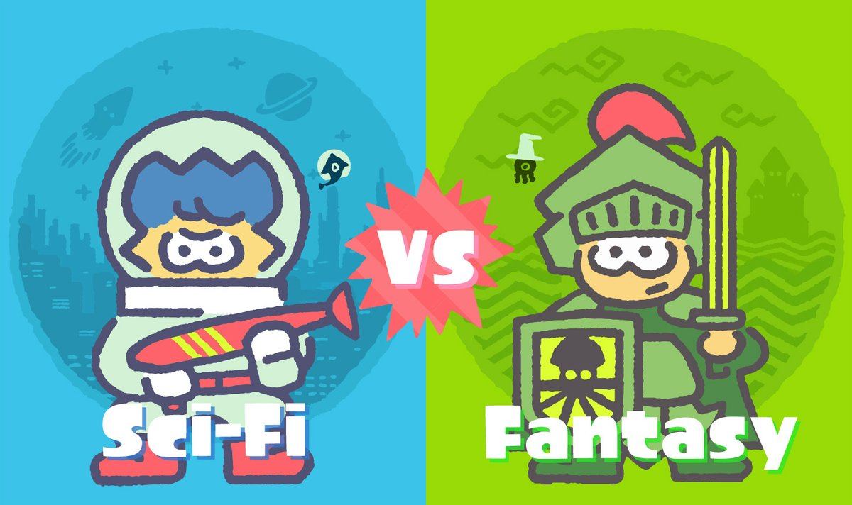 Splatoon 2 Splatfest #4 is about sci-fi vs. fantasy