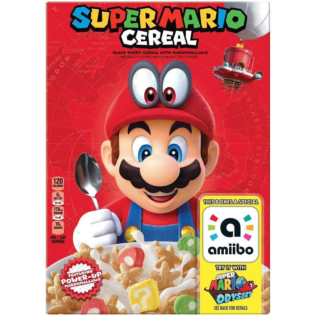 Yep, there's a Mario Odyssey cereal coming