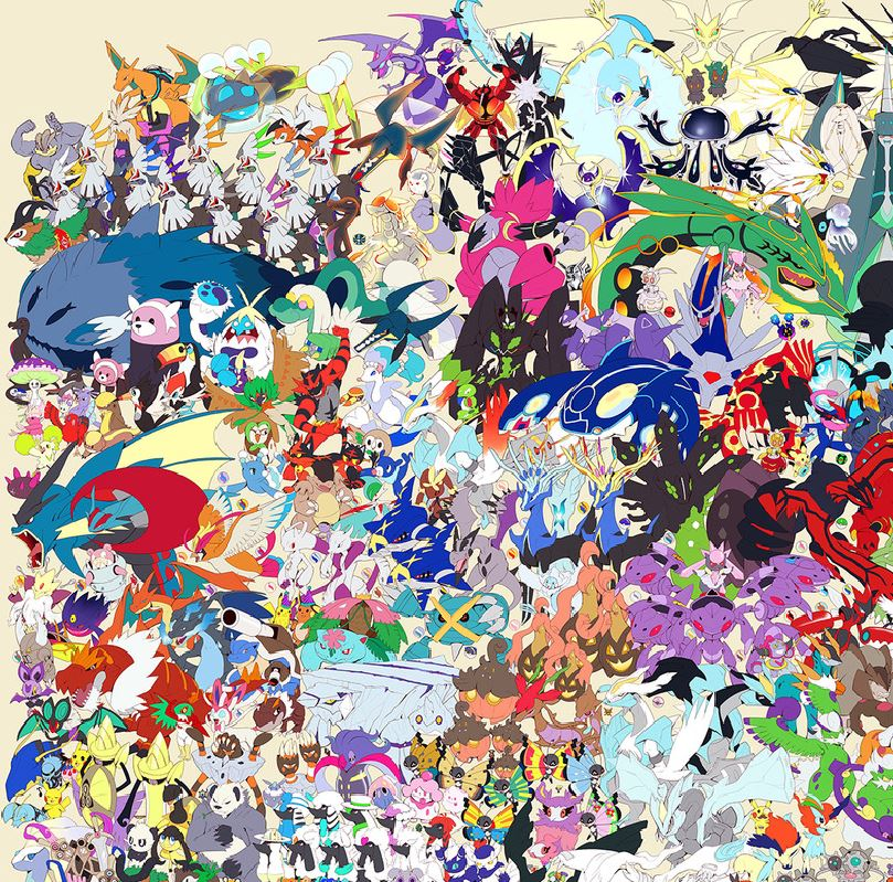Artist Draws Poster With All 800 Pokemon Nintendotoday