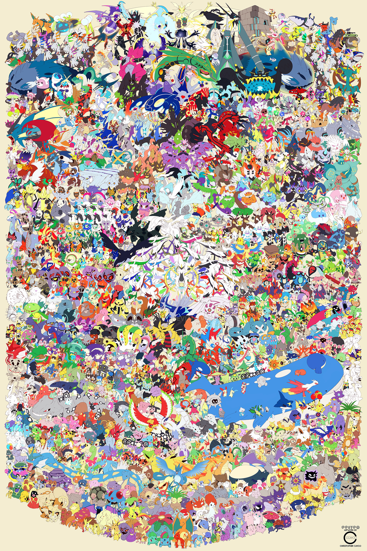 big pokemon poster