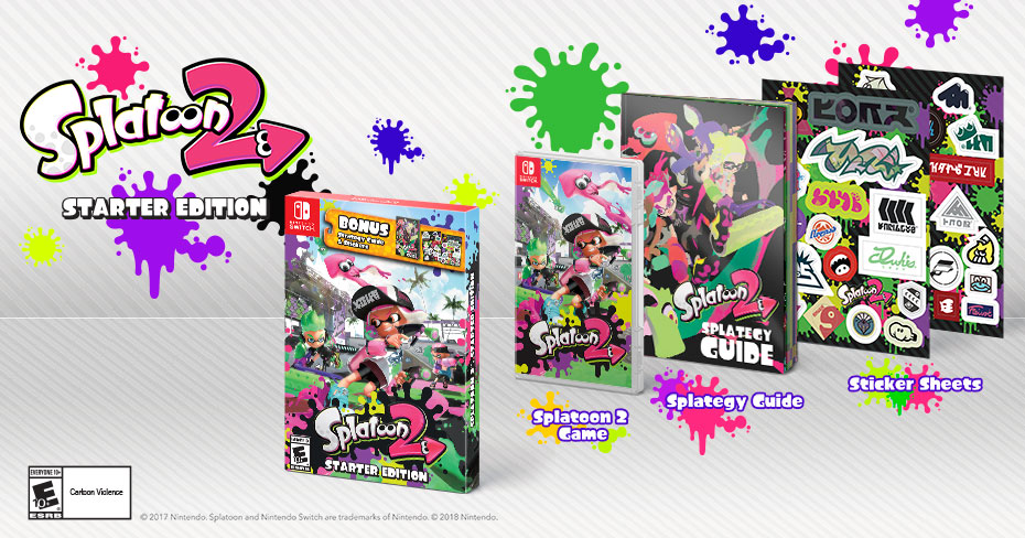 Splatoon 2 starter pack announced, coming March 16